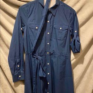 Chaps Button Down/Collared Dress w/ belt